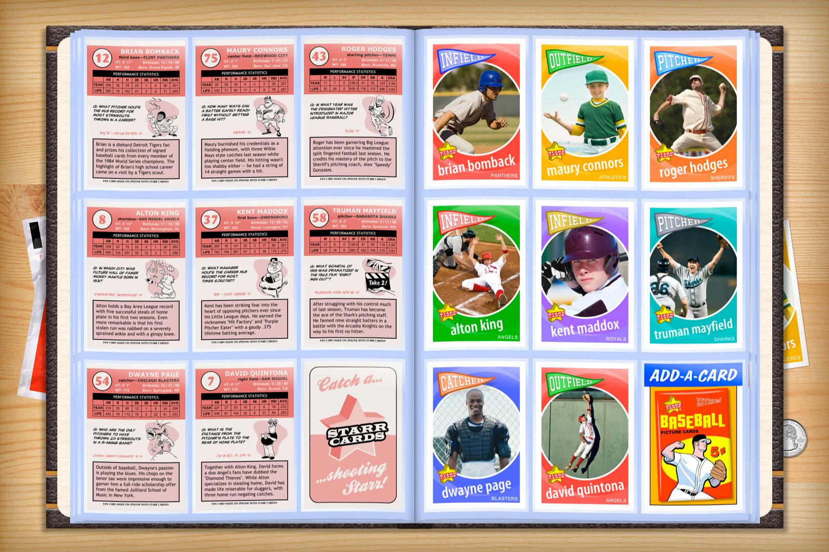 Custom Baseball Cards - Retro 60™ Series Starr Cards