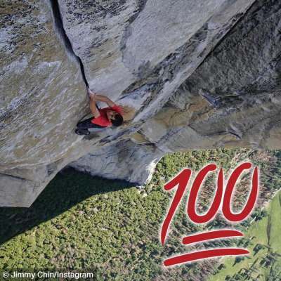 Alex Honnold free solos El Capitan in photo by Jimmy Chin