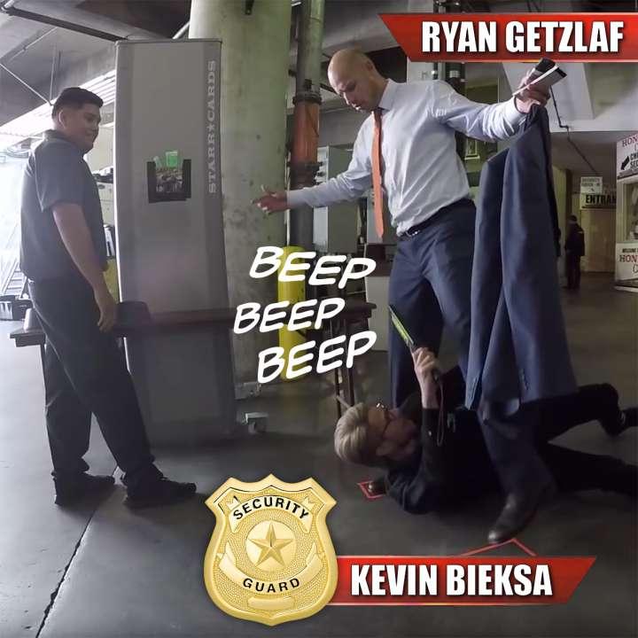 Anaheim Ducks defenceman Kevin-Bieksa scans captain Ryan Getzlaf
