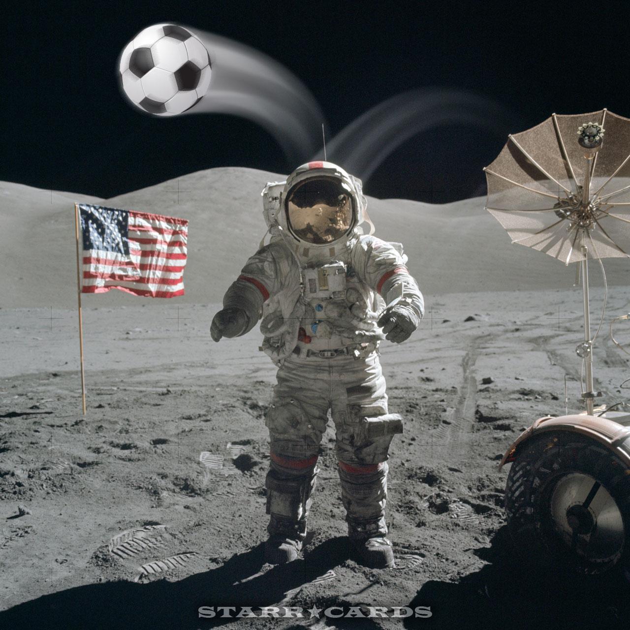 Apollo 17 Moon Soccer