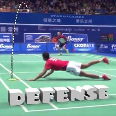 China's Lin Dan demonstrates dazzling badminton defense