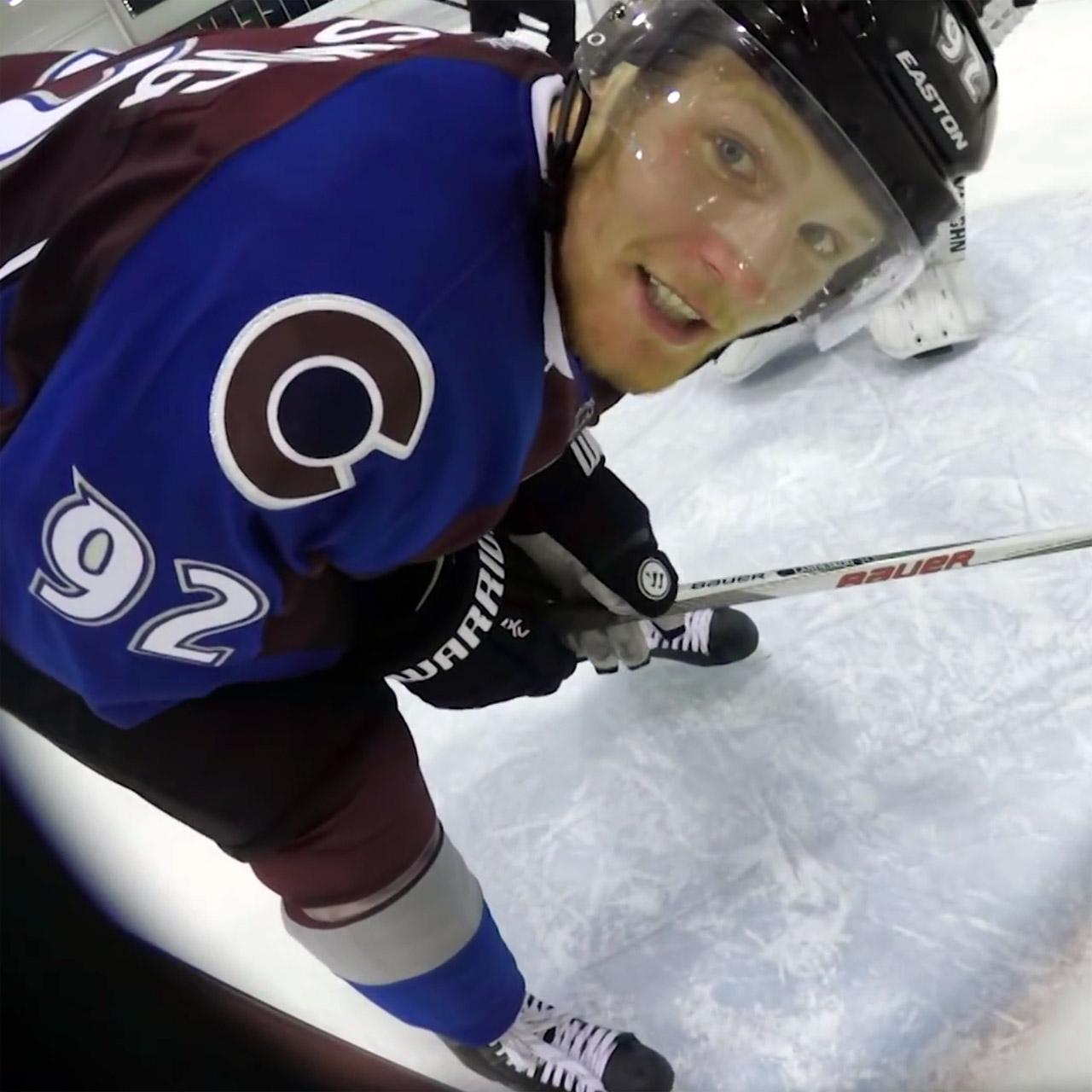 Colorado Avalanche captain Gabriel Landeskog smashes GoPro camera