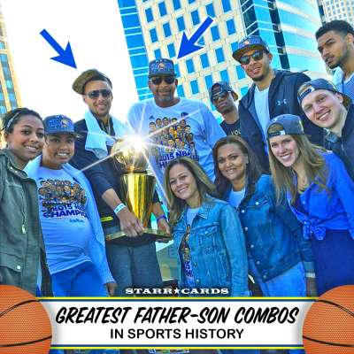 Dell and Steph Curry are basketball's greatest father-son combo