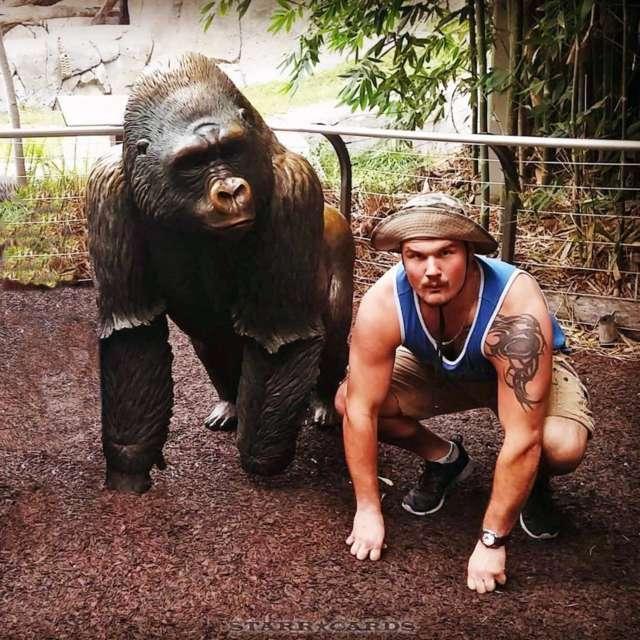 Detroit Lions defensive tackle Anthony Zettel is a real-life ape man