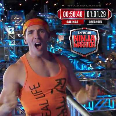 Drew Drechsel finishes American Ninja Warrior Las Vegas Finals Stage 1 with the fastest time