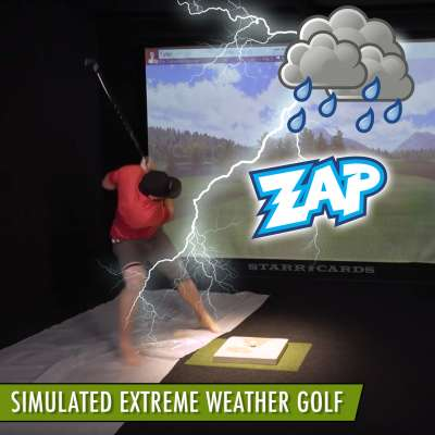 Dude Perfect's Tyler Toney golfs in simulated thunder storm