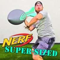 Dude Perfect's Tyler Toney chucks a super-size Nerf vortex football