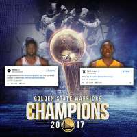 Dwyane Wade and Kobe Bryant offer Golden State Warriors kudos on their 2017 NBA Title
