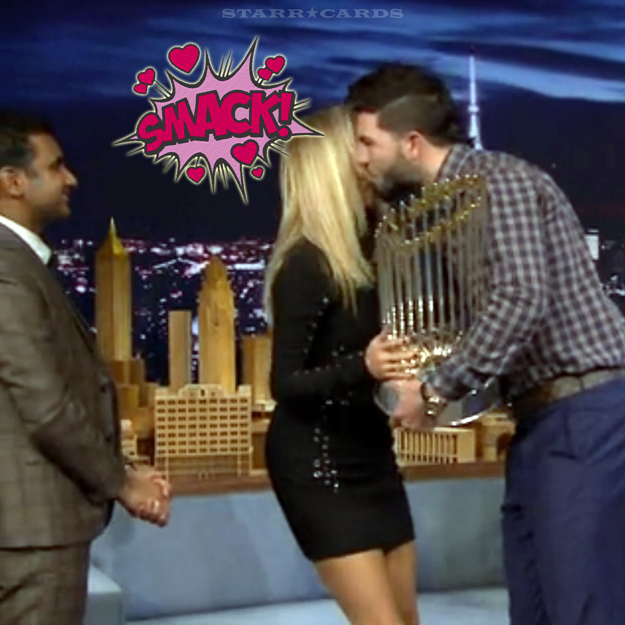 Eric Hosmer kisses Christie Brinkley on 'The Tonight Show with Jimmy Fallon'