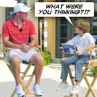 European Tour's Billy interviews Rory McIlroy in Dubai