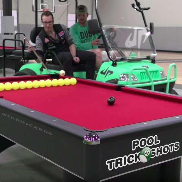 """Florian """"Venom"""" Kohler partners with Dude Perfect for epic pool trick shots"""