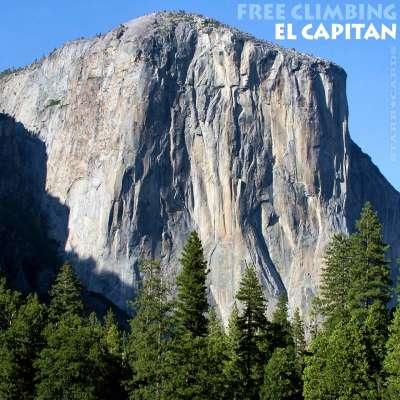 Free climbing El Capitan in California's Yosemite National Park