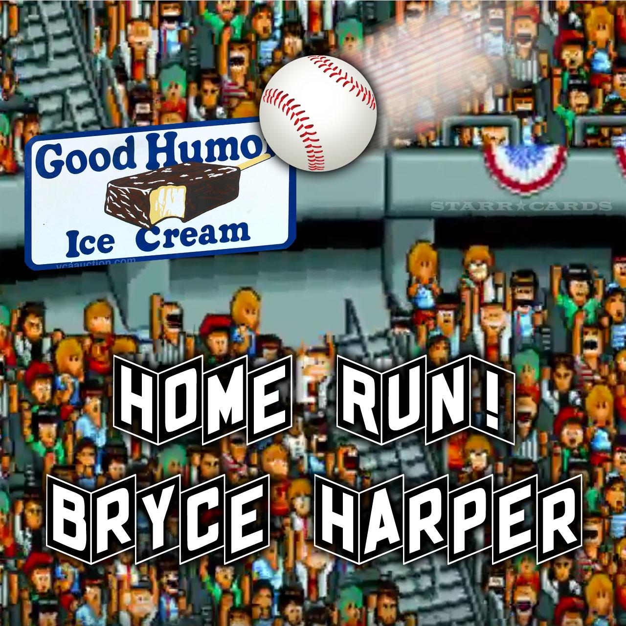 Grand Slam! Bryce Harper hits 100th HR off of Good Humor sign
