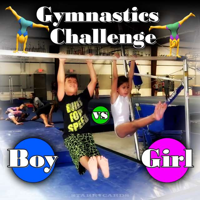 Gymnast Rachel Marie presents 'Boy vs Girl Gymnastics Challenge'