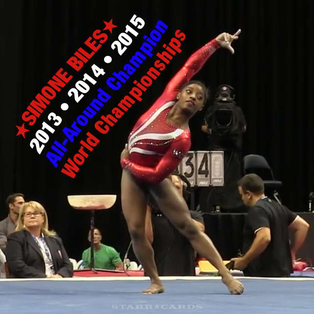 Gymnast Simone Biles three-peats as World All-Around Champion