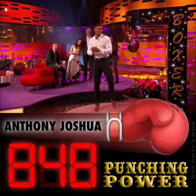 Heavyweight champ Anthony Joshua scores 848 on arcade boxing machine on 'The Graham Norton Show'