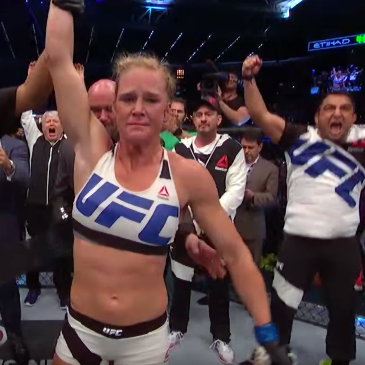 Holy Holm prevails over Ronda Rousey at UFC 193