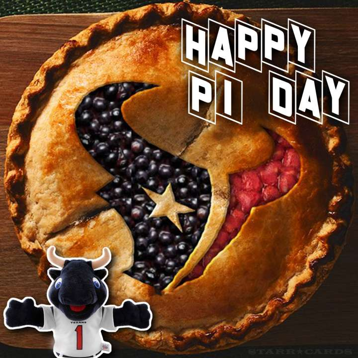 Houston Texans celebrate Pi Day with a blueberry-strawberry pie