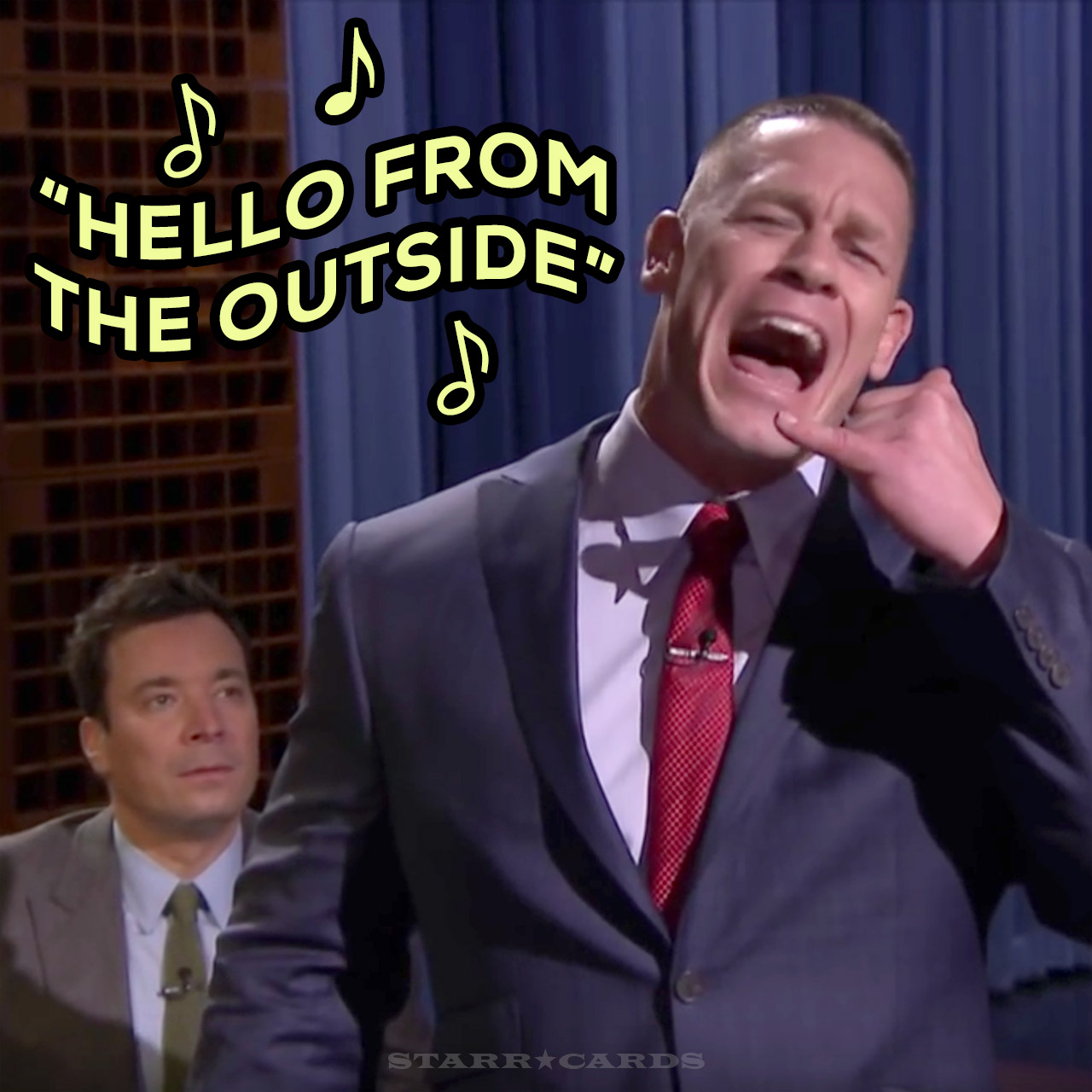 "John Cena sings Adele's ""Hello"" on 'The Tonight Show With Jimmy Fallon'"