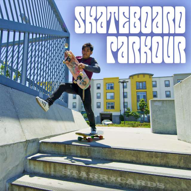 Jose Angeles tries skateboard parkour in San Francisco