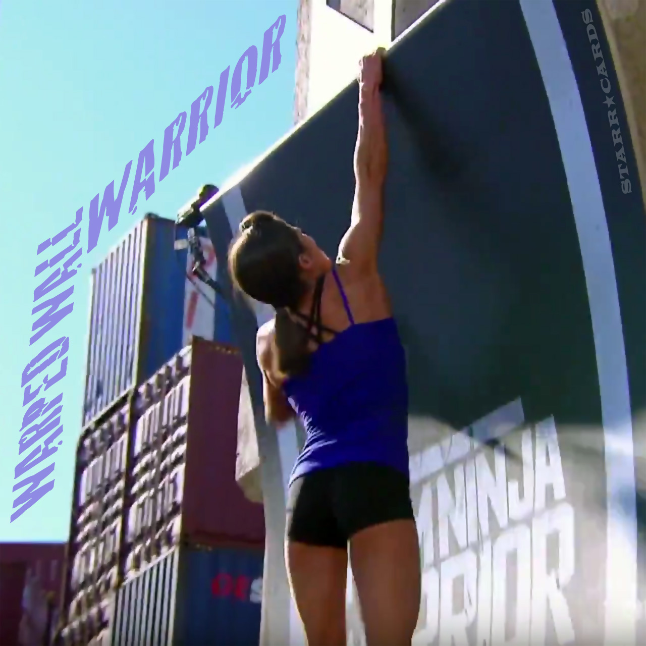 Kacy Catanzaro scales the Warped Wall on 'Team Ninja Warrior'