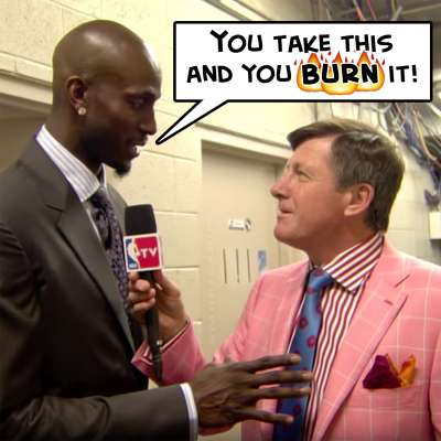 Kevin Garnett tells Craig Sager to burn his pink suit