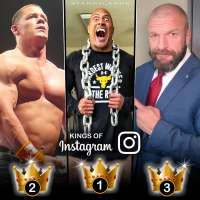 Kings of Instagram: Among pro wrestlers The Rock, John Cena and Triple H reign supreme