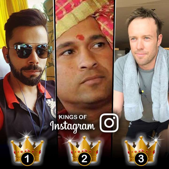 Kings of Instagram: Virat Kohli, Sachin Tendulkar, AB de Villiers have most followers among cricket stars