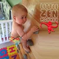"""""""Little Zen Monkey"""" Ellie was climbing as a baby"""