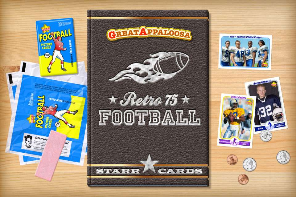 Make your own retro football card with Starr Cards.
