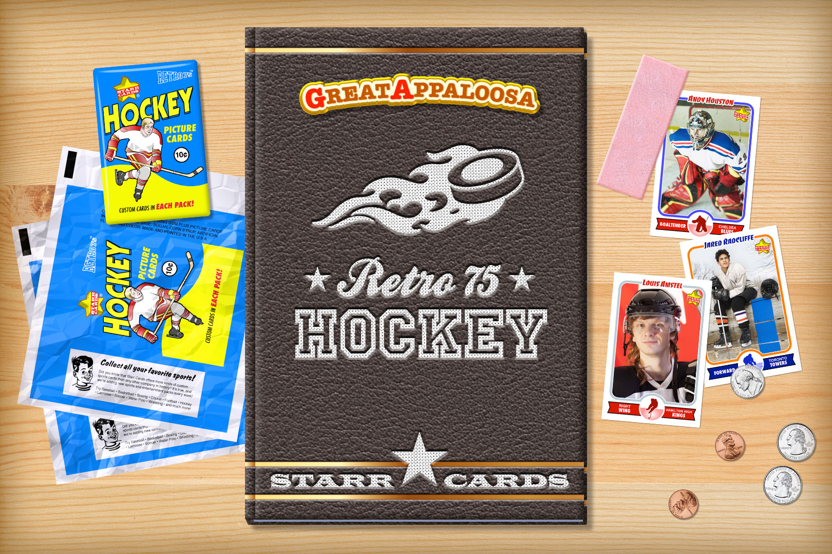 custom hockey cards retro 75 series starr cards make your own retro hockey card starr cards
