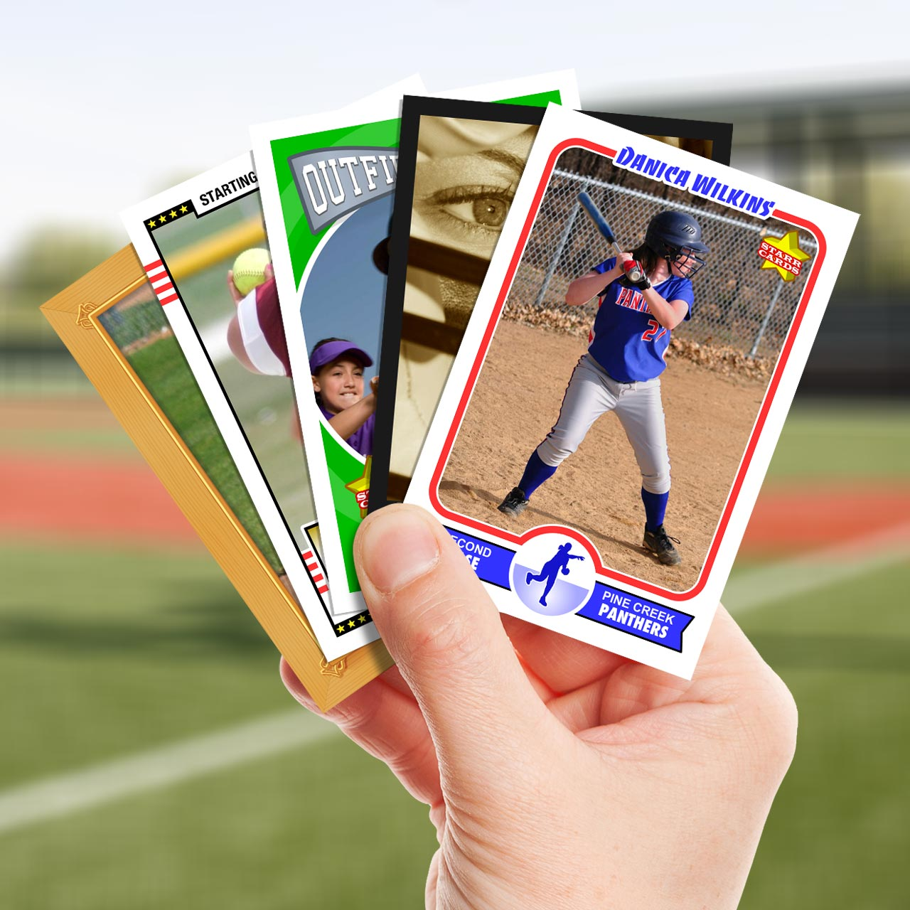 Make your own softball card with Starr Cards.