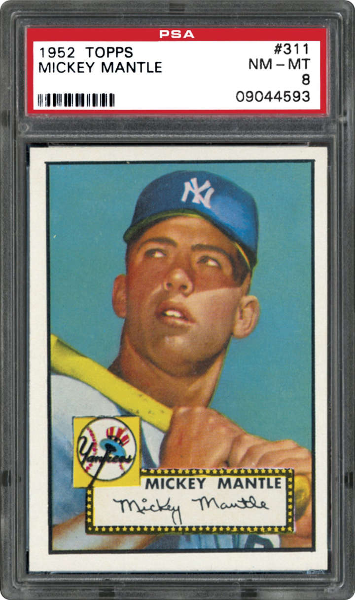 Mickey Mantle, 1952 Topps baseball card