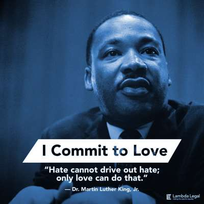 "MLK Day: ""Hate cannot drive out hate; only love can do that."""