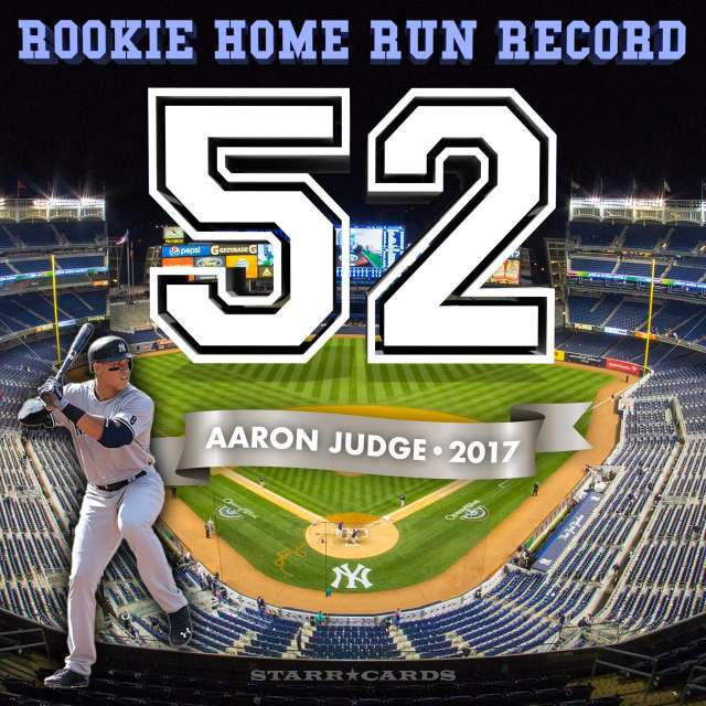 New York Yankees outfielder Aaron Judge sets MLB rookie home-run record