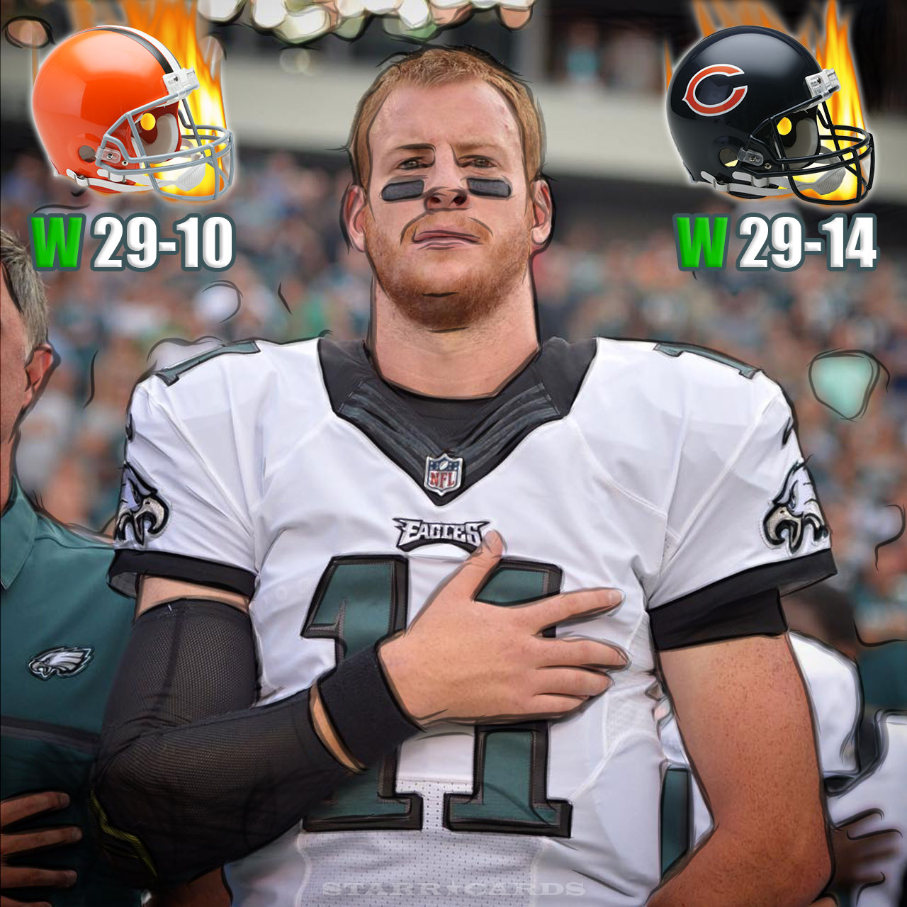 eagles quarterback height