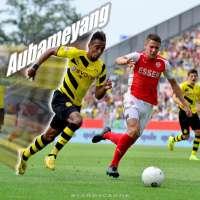 Pierre-Emerick Aubameyang streaks upfield for Borussia Dortmund