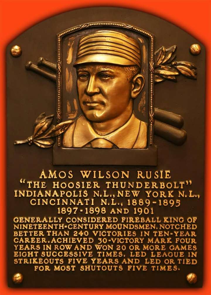 Plaque of NY Giants fireballer Amos Rusie