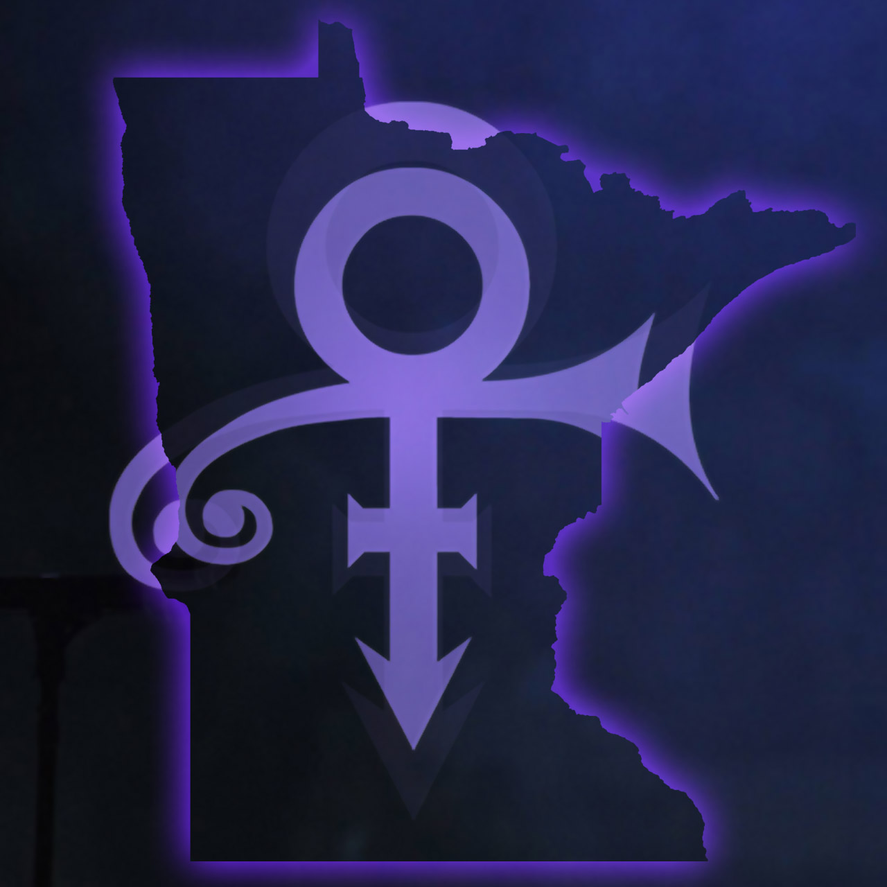 Prince symbol over Minnesota sports teams