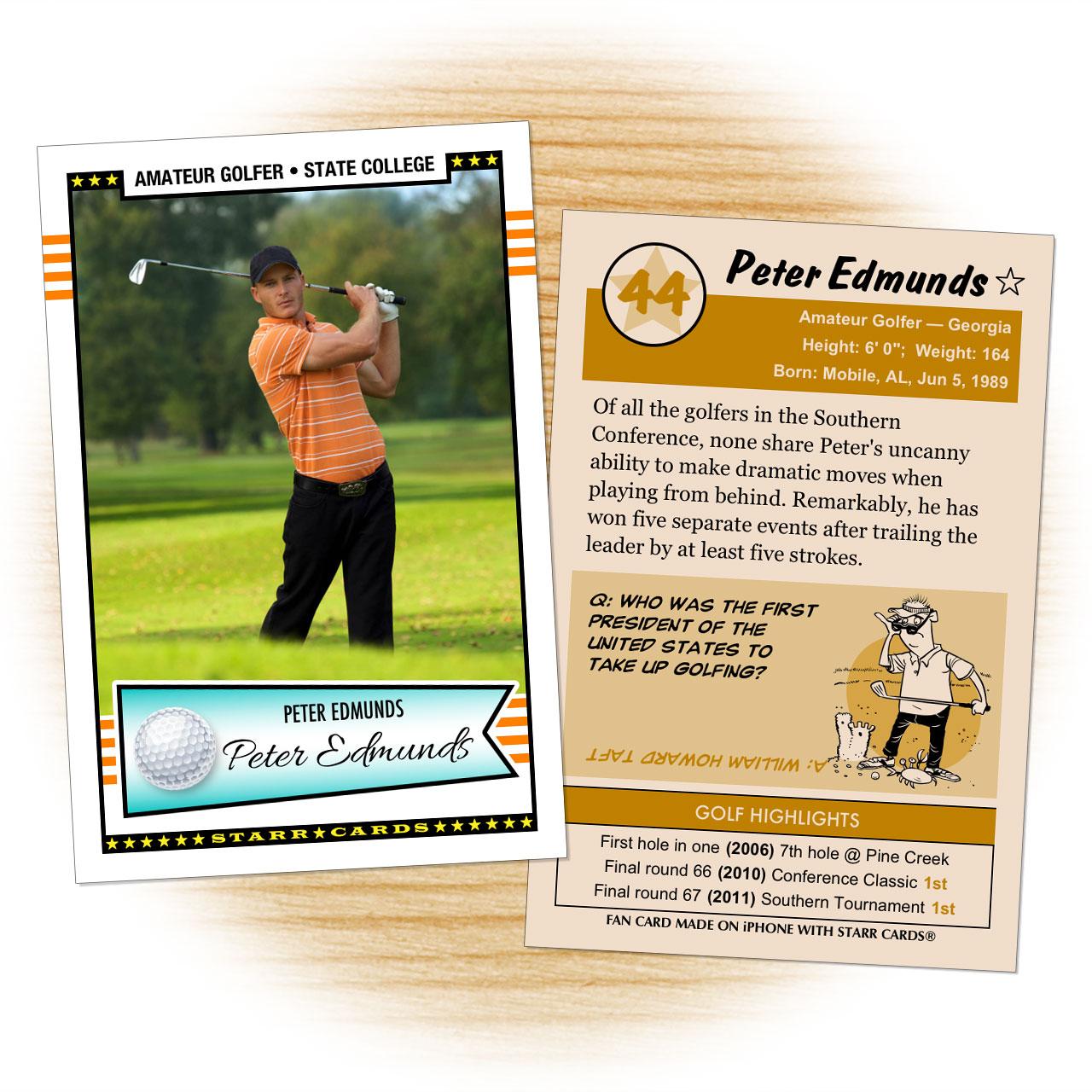 Retro 50 Series custom golf cards