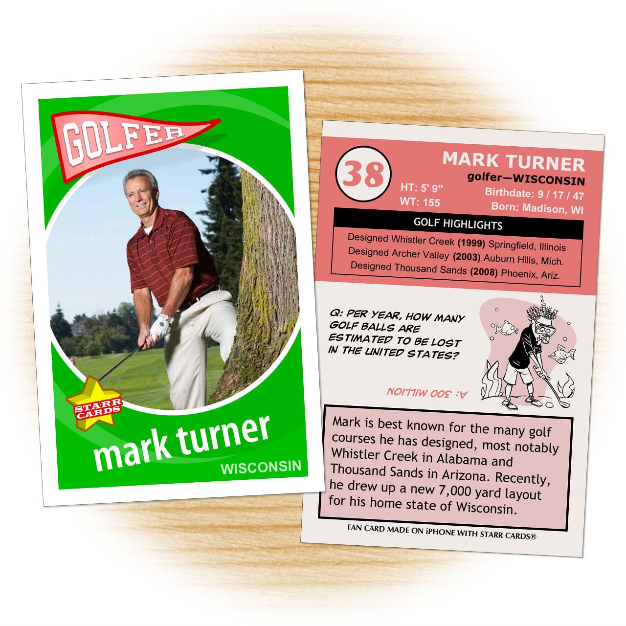 Retro 60 Series custom golf cards