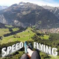 Speedflying with Jamie Lee in the Swiss Alps