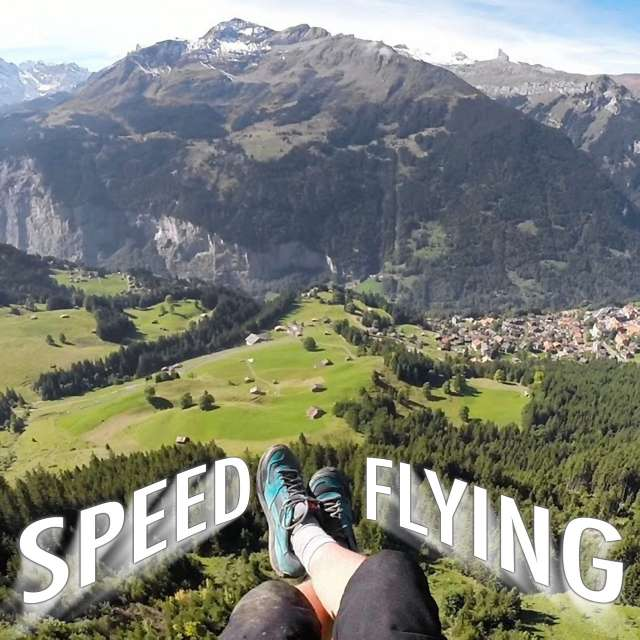 Speedflying with Jamie Lee in the Swiss Alps