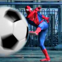 Spiderman is very good at soccer