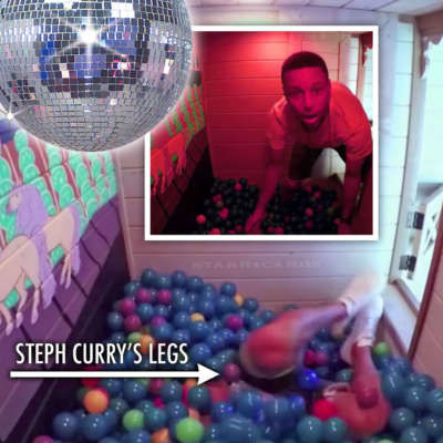 Steph Curry tries out Riley Curry's ball pit room in new two-story playhouse
