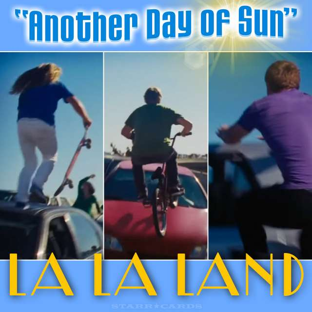 """Stunt performers from 'La La Land' musical number """"Another Day of Sun"""""""