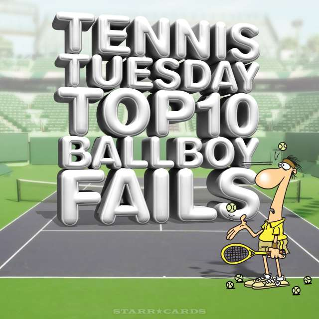 Tennis Tuesday: Top 10 Ball-Boy Fails (headlined by interactions with Andy Murray) presented by Starr Cards