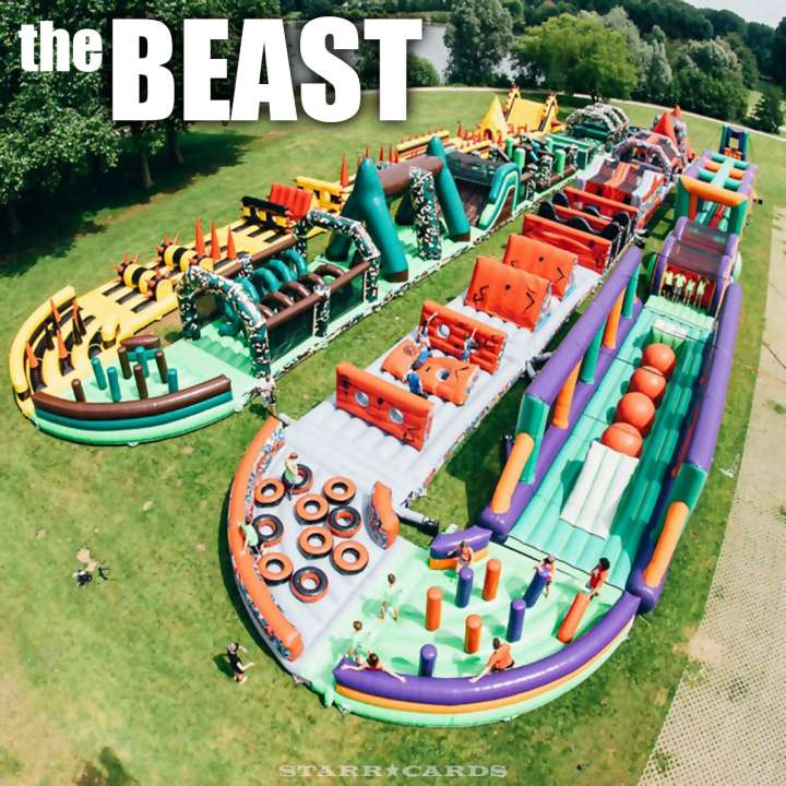 The Beast: Worlds' longest inflatable obstacle course from V-Formation