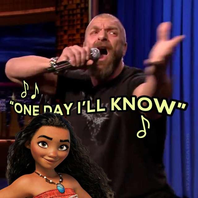 """Triple H lip syncs to """"How Far I'll Go"""" from Disney's 'Moana'"""