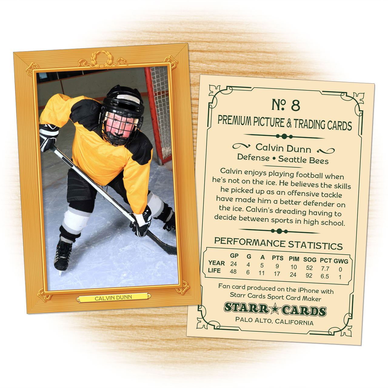 Vintage 11 Series custom hockey cards